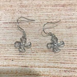 Diamond Accented Flower Earrings
